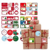 Christmas Gift Wrap Sticker Old Man Snowman Christmas Gifts Box Packaging Stickers Xmas Party Decoration 13*18cm FWA8621
