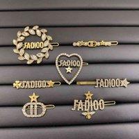 / D 's Brass 다이아몬드 스타 꿀벌 사랑 편지 머리핀