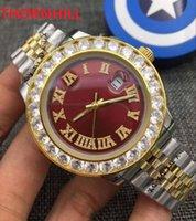 Diamonds men watch stylish calendar gold bracelet folding buckle mechanical automatic mens luxury Designer watches 316l steel strap