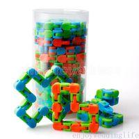 Favor de Fiesta Wacky Tracks Autismo Sensorial Snap y Click Fidget Toys Kids Autism Snake Rompeczuelas Classic Sensory para juguetes para niños