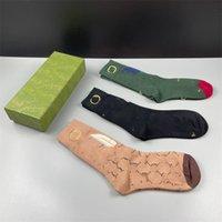 Kreative Stickerei Unisex Luxus Socken Mode Brief Designer Sport Socke Alle Jahreszeiten Elastische Warme Strümpfe Strumpfwaren