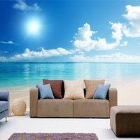 مخصص كبير جدارية خلفية البحر الأزرق السماء 3d المحيط مشهد التلفزيون خلفية غرفة المعيشة صور خلفيات 3d غرفة خلفية المناظر الطبيعية