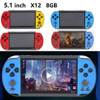 X12 Handheld Game Player 8GB Memory Portable Video Game Consoles 5.1 inch Screen Support TF Card 32gb MP3 MP4 MP5 Player