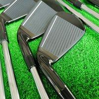 P790 골프 클럽 아이언 블랙 단조 철 4-p. 8 조각 강철 고속파이트 r / s 세트 헤드 커버 DHL