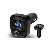 자동차 충전기 핸즈프리 무선 블루투스 FM 송신기 MP3 플레이어 듀얼 USB x8