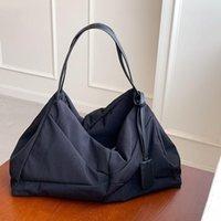 Evening Bags Casual Hobos Large Tote Bag Designer Women Shoulder Patchwork Nylon Lady Handbags Big Canvas Shopper Female Purses 2021