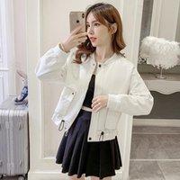 Zipper Casual Jacket Korean Style Oversized Baseball Streetwear Fashion Polyester Kobieta Kurtka Coat Women DE50JK Women's Jackets