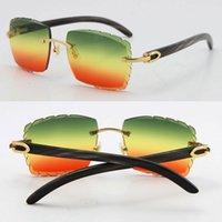 Unisex Frame Marbled Outdoors Búfalo Dirigindo Óculos de Sol Óculos 3524012 Decoração de Metal Preto Rimless C Quadrado Macho Masculino Olho Original Ienq