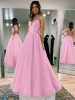 Sweet Sparkle Fabric Pink Evening Dress Spaghetti Straps Lace-up Back A-line Prom Dresses for Formal Occasions Custom Made