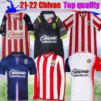 LIGA MX 2021 Chivas Soccer Jersey 115ème Anniversaire à manches longues Macias spécial Macias I.Brizuela A.VEGA Home Away 3ème 20 21 Football Hommes Shirt