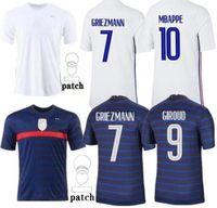 2021 Futbol Forması 2022 MBappe Griezmann Kante Pogba Maillots de Futbol Maillot Equipe Fransızca