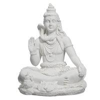 Vilead 20cm Shiva Statue Hindu Ganesha Vishnu Buda Figurine Casa Decoração Decoração Escritório Decoração Índia Religião Feng Shui Crafts 210911