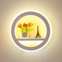 Lâmpada de parede montada lâmpadas de cabeceira Luminarias Acrílico LED Luz 110-220V Modern Sconce luzes de leitura luminárias