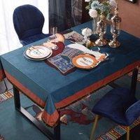 Европейский стиль ретро мытье кисточек хлопчатобумажные цветные подходящие столовые ткани отель домашний прямоугольник круглая скатерть крышка