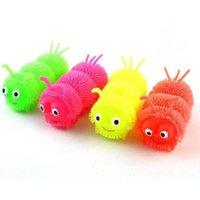 Декомпрессионная игрушка Три секции Caterpillar Seven Color Светящиеся мяч Вентиляционные Волосы Мягкий Клей