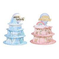 Tebrik Kartları 3D -up Kek Kartı Için Mutlu Doğum Günü için Anneler Günü Düğün Parti Yıldönümü Mezuniyet Zarf 85db