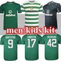 Тайское качество 2021 2022 Celtic Soccer Tearsys Edouard Brown Duffy Taylor Christie 21 22 Футбольная рубашка Мужчины Детский Комплект Униформа