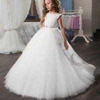 PLBBFZ Sommer Mädchen Kleid Weiß Rot Kinder Weihnachtskleidung Kinder Lange Prinzessin Party Hochzeitskleidung 10 12 Jahre Vestidos Q0716