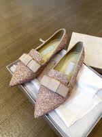 Elegante gala glitter sandálias liso feminina jimmi ballet sapatos sexy senhora meninas apontou toe ballerinas Conforto festa casamento macio caminhada preguiçosa