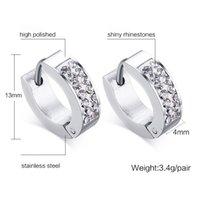 Qwc tee17 inverno Arrivo gioielli di moda regalo di compleanno regalo di compleanno colore argento con pietra o forma semplice donna in acciaio in titanio orecchino 210325