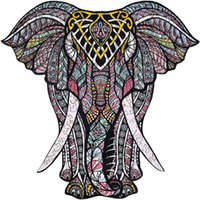 Banlv Lucky-Free слон головоломки в форме деревянные головоломки нерегулярные трехмерные животные головоломки 3d деревянная мандала животное Holid
