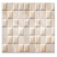 stereoscopic wallpaper 3D three-dimensional geometric figure square marble stone TV background wall