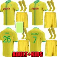 Yetişkin Çocuklar 21 22 FC Nantes Ev Futbol Formaları Ev Uzakta Simon Louza Kolo Muani Blas Bamba 2021 2022 Coco Coulica Yetişkin Erkekler Çocuk Kiti Futbol Gömlek