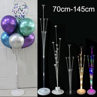 70-145cm LED Light Latex Balloon Stand Column Metal Balloons Holder Wedding Birthday Party Decor Ballon Stick Globos Accessories Decoration
