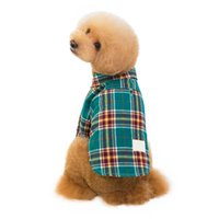 Designer Pet Dog Apparel Casual plaid shirt Pure Cotton Breathable Fashion Clothes Accessories Two legs to wear For Middle Small Teddy Dogs SMLXLXXL