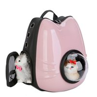 Cat Carriers,Crates & Houses 2021 Pet Outdoor Equipment Handbag Cage Cat-Carrier-Bag Puppy-Cat-Backpack Cats-Box Space- Small-Dog-Pet