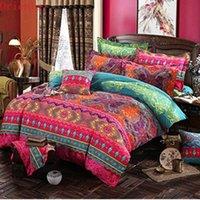 Bohemian 3D couette de couette ensembles de lits de couette Mandala Couverture de couette Set d'hiver Bedsheet Taie d'oreiller Queen King Size Draps Draps Couvre-lit