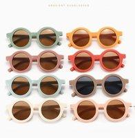 Gafas redondas retro Kid Street Snap Sunglasses Summer Style 2021 Nueva personalidad de alta calidad Kids UV Gafas de sol plásticas HWC6833