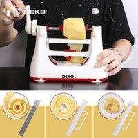 Deko Manual Gemüseschneider Multifunktionale Edelstahl Obst Slicer Kartoffelhubschrauber mit 3 Klingen Küchenwerkzeuge 210317