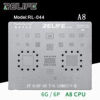 CPU / RAM A8 / A9 / A10 / A1 / A12 / A13 IC Chip BGA Reballing Stencil Malha de aço de estanho para 6-8 / 8 plus / x / xs max 11 Pro Ferramentas de reparação de celular