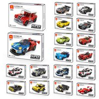 Children's Racing Blocks Vehicle Toys Super Sports Car Model Small Particle Assembly Puzzle Building Block Toy Birthday Christmas Gift