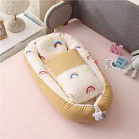 50x85 cm Tragbare Baby Nest Baumwolle Baby Krippe mit Steppdecke Kleinkind Bett Bassinet für Babybett Cunas Para El Bebe