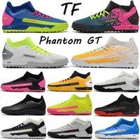 Hombres High Cut MD Outsole Phantom GT Academy Dynamic Fit TF Zapatos de fútbol Male Lace-Up Deporte Botas de Fútbol Boy Boy Exterior Turf Césped Sneaker Tamaño EUR39-45