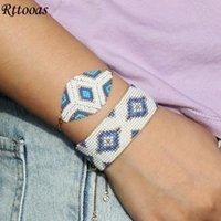 Charm Bracelets Rttooas Geometry Stainless Steel Chain Bracelet Miyuki Beaded Set Boho Jewelry Friendship Love Gift 2021