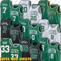 Boston Celtics Jayson jaylen tatum marrom jersey kemba marcus walker esperto jerseys larry retrocesso pássaro jersey xcvba
