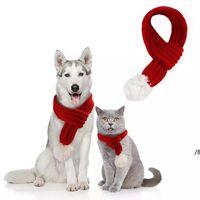 Pet Noel Örme Eşarp Köpek Giyim Kedi Giyim Yavru Yavru Dekorasyon Mini Christmasscarfs Pet Köpek Atkılar Owe5419