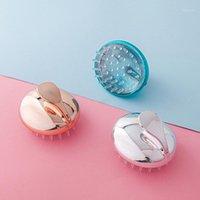 Silikon Masaj Tarak Spa Zayıflama Fırça Vücut Şampuan Baş Masajı Saç Yıkama Banyo Duş Pervane TSLM2 Fırçalar1