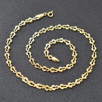 Lieber Schmuck Ethnische Link Kette Halskette für Frauen Hohe Qualität Kupfer Party Jubiläumsbestandketten
