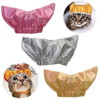 Cat Costumes Adjustable Shower Pet Kitten Cap Ear Proof Waterproof Bath Hat Puppy Small Dogs Head Wearing Cats Supplies