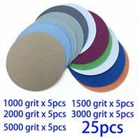 Sanders Polishing Sanding Disc Round No Hole Paper 25pcs 3inch Hook&Loop Wet Dry