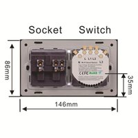 Wifi Smart Light Switch Wireless Interruptor Wall Outlets Universal Electrical Plug Sockets USB Remote Control Alexa Google Home