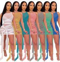 Женское платье без рукавов платье сплошное цветное сетка Bodycon платье перспективное платье S-4XL