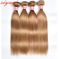 Human Hair Bulks 27# Honey Blonde Brazilian Straight 3 Or 4 Bundles Colored Remy Extersion Sew In