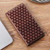 Texture de grille Véritable étui en cuir pour Oppo Realme x xt x2 x3 1 2 3 3i 5 5i 6 6i C1 C2 C3 C1 C11 K5 Q X50M PRO Coque de couverture de téléphone mobile