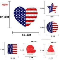 National Flag Printing Fidget Toys Push it Finger Bubbles Sensory Silicone Board Kids Fingers Fun Squeezy Squeeze Desk Toy NEW