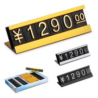 10 Sets Price Tag Dollar Euro Number Digit Cubes Clothes Phone Laptop Jewelry Showcase Counter Price Label Sign Display Stand